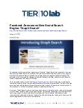 Facebook Announces New Social Search Engine, 'Graph Search'
