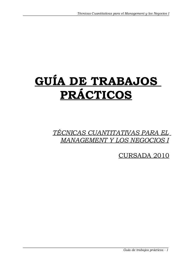 115 prácticos técnicas cuantitativas para el management y los negocio…