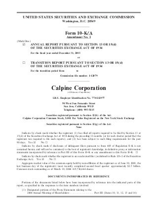 calpine 200310KA