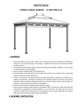 10 Ft X 12 Ft Steel Gazebo Assembly Amp Instructions Manuals