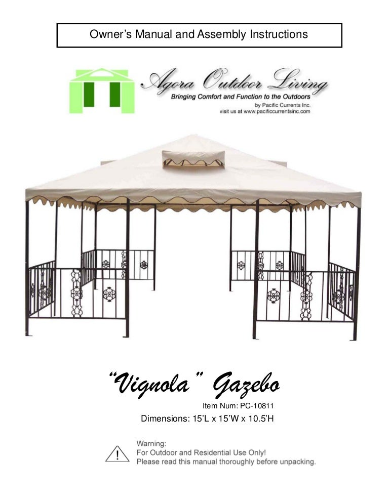 Vignola Gazebo Assembly Manual