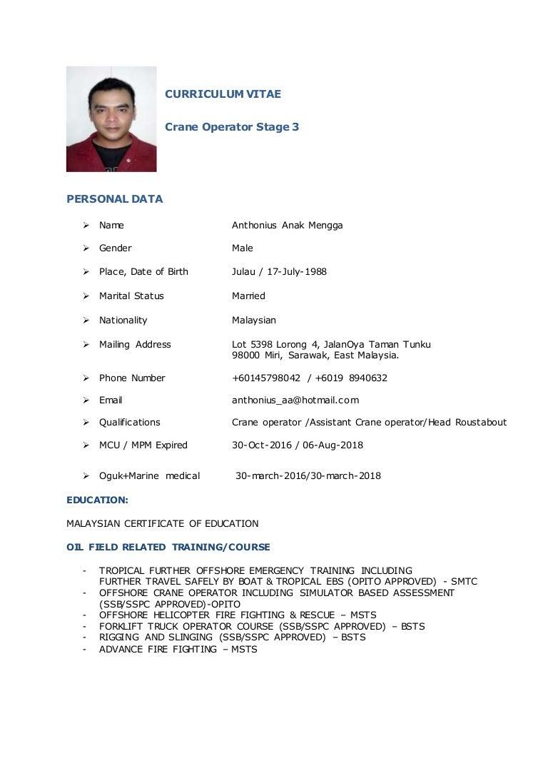 CV_Crane Operator - antho