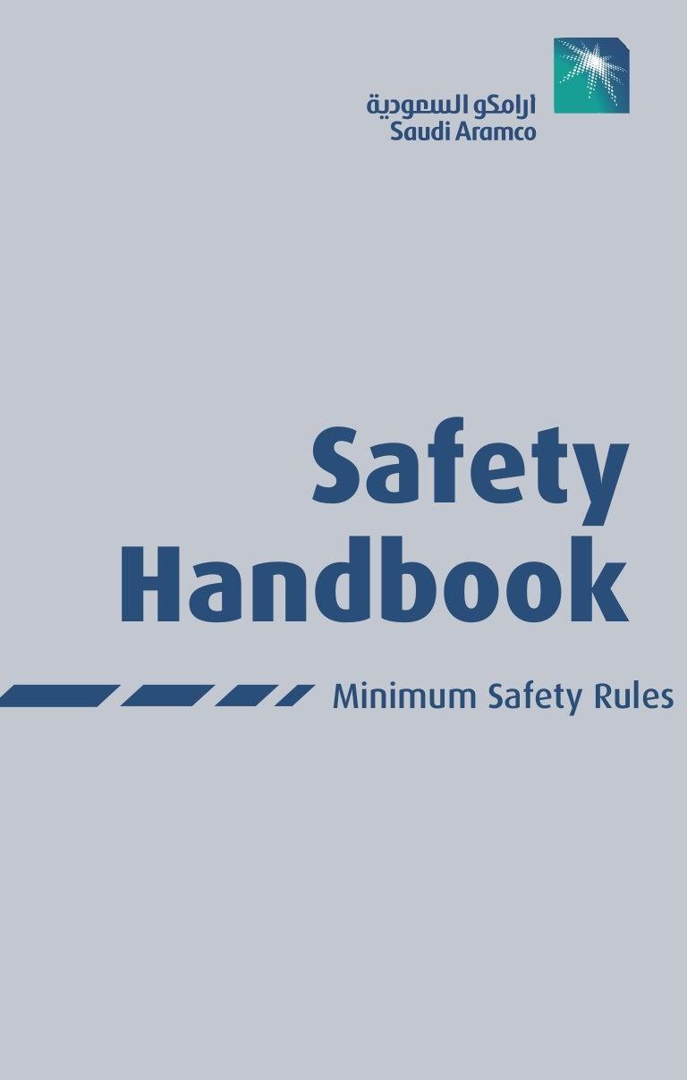 safety handbook saudi aramco by muhammad fahad ansari 12ieem14 rh slideshare net Work Place Safety Safety Handbook Template