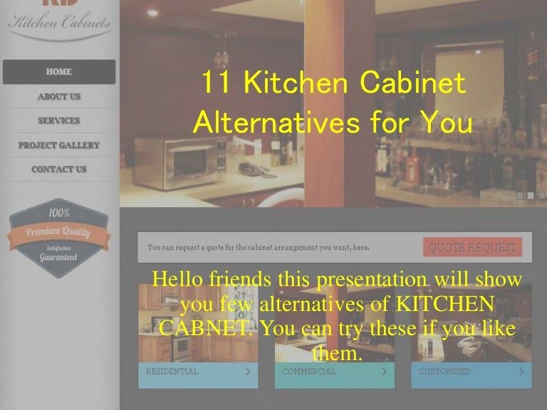 11 kitchen cabinet alternative for you watch it - Kd Kitchen Cabinets