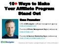 10 Ways to Make Your Affiliate Program Stand Out