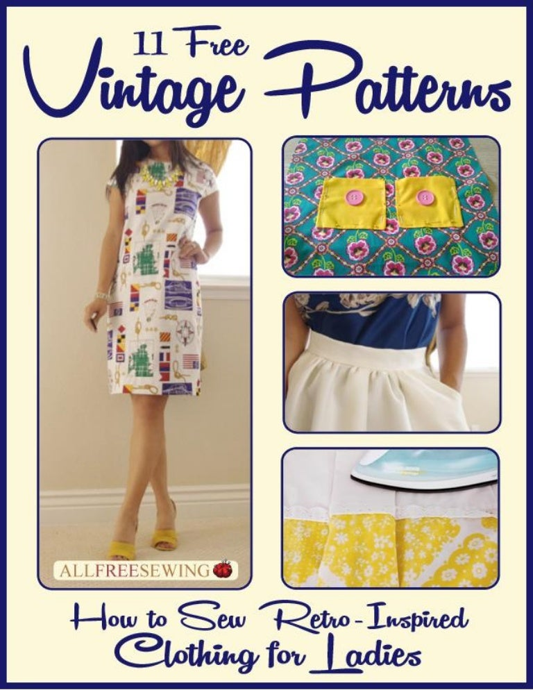 11 free vintage patterns how to sew retro inspired clothing for ladie…