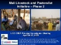 Livestock-Climate Change CRSP Annual Meeting 2011: MLPI-2 Project Update (J. McPeak)
