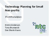 Technology Planning for Small Nonprofits (11NTCsmallplan)