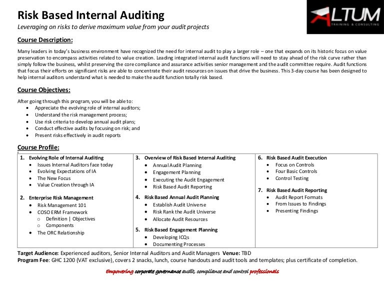 internal audit and the relationship with senior We found that senior management's expectations have a significant influence on internal audit and that internal audit, generally, is able to meet most of these expectations senior management wants internal audit to compensate for the loss of control they experience resulting from increased organisational complexity.
