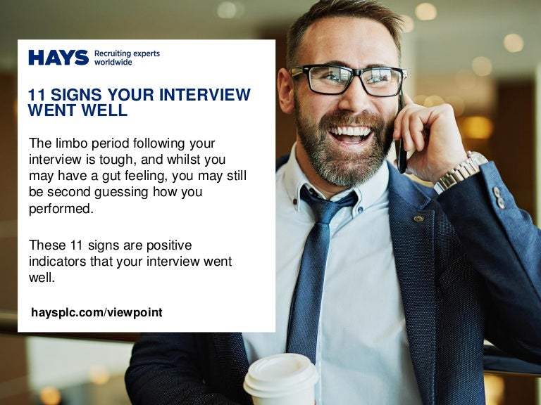 11 signs your interview went well