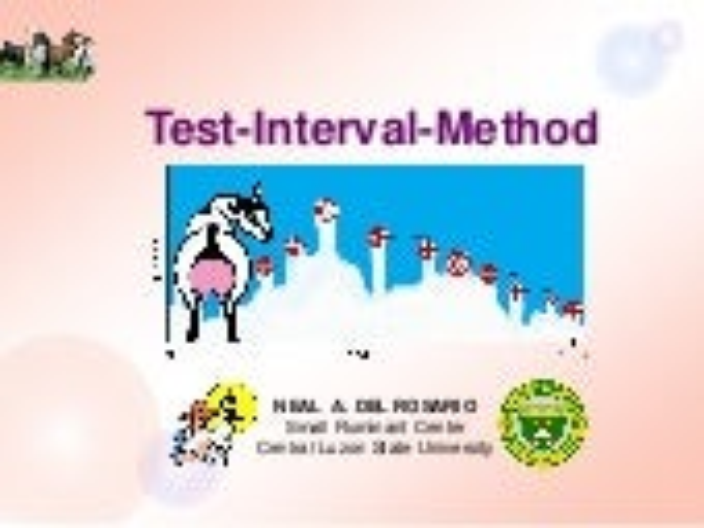 Test Interval Method - NA_dRosario