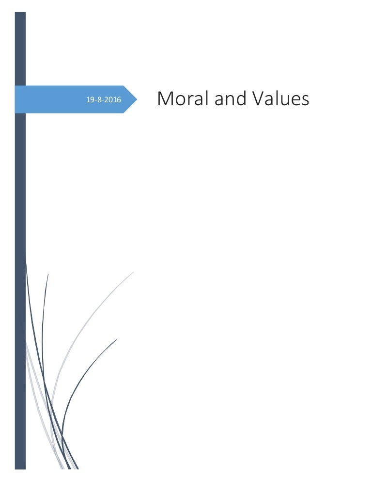 Moral and Values Worksheet (Englishpost.org)