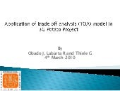 Application of Trade Off Analysis (TOA) model in 3G potato project