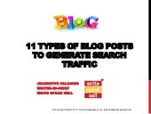 11 types of blogs to generate web traffic2