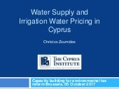Case study: Cyprus: Pricing for irrigation and the cost of water scarcity