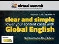 Clear and Simple: Lower Your Content Costs with Global English with Matthew Kaul and Greg Adams of AdamsKaul.com