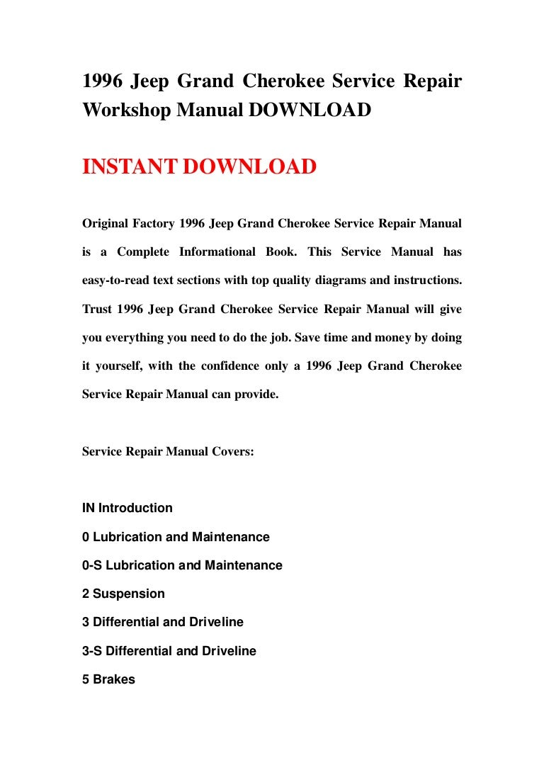 1996 Jeep Grand Cherokee Wiring Diagram Further Jeep Grand Cherokee
