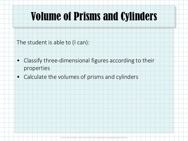 Volume Of Prisms And Cylinders - slideshare