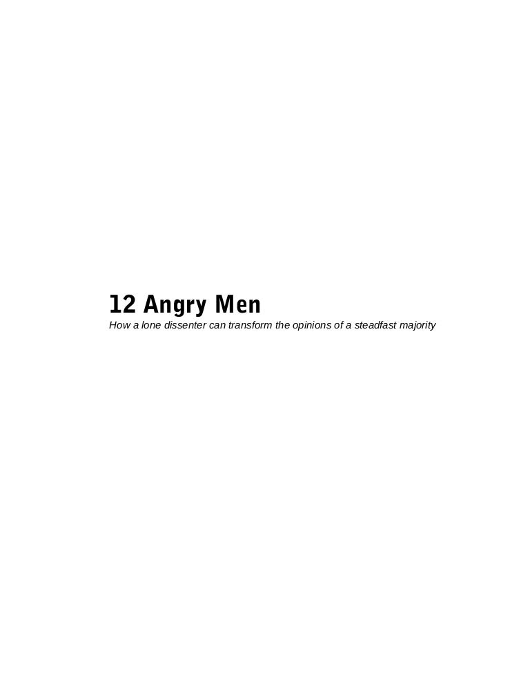 12 angry men analysis essay