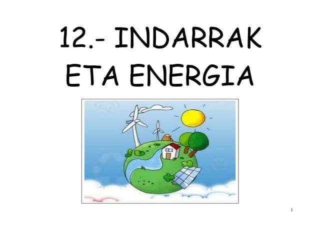 Indarrak eta energia