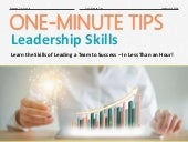 One-Minute Tips: Leadership Skills