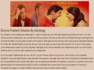 Astrologer Shastri Ji - Divorce Problem Solution - How to Stop Divorce Problem