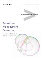 Corporate Brochure Accenture Management Consulting