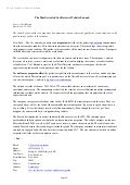 Press release of Website Launch