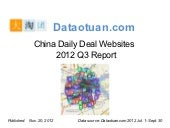 Daily Deal Industry in China Q3, 2012 inc. Travel Special