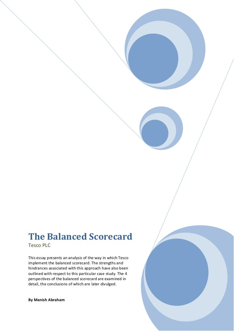 balanced scorecard essay template balanced scorecard essay