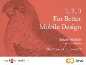 1, 2, 3 for Better Mobile Design