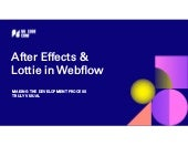 After Effects & Lottie in Webflow - No Code Conf 2019 Demo Theater