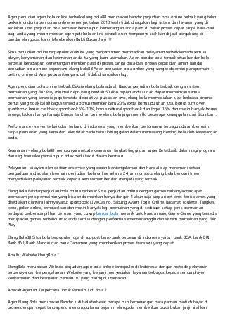 Elang Bola88 Bandar Bandar Judi Situs Taruhan Betting Bola Online