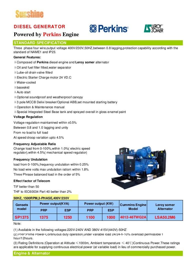 1250 Kva Uk Perkins Gensets With Leroysomer Data Sheet Delixi Air Circuit Breaker Cdw16300 China Manufacturer
