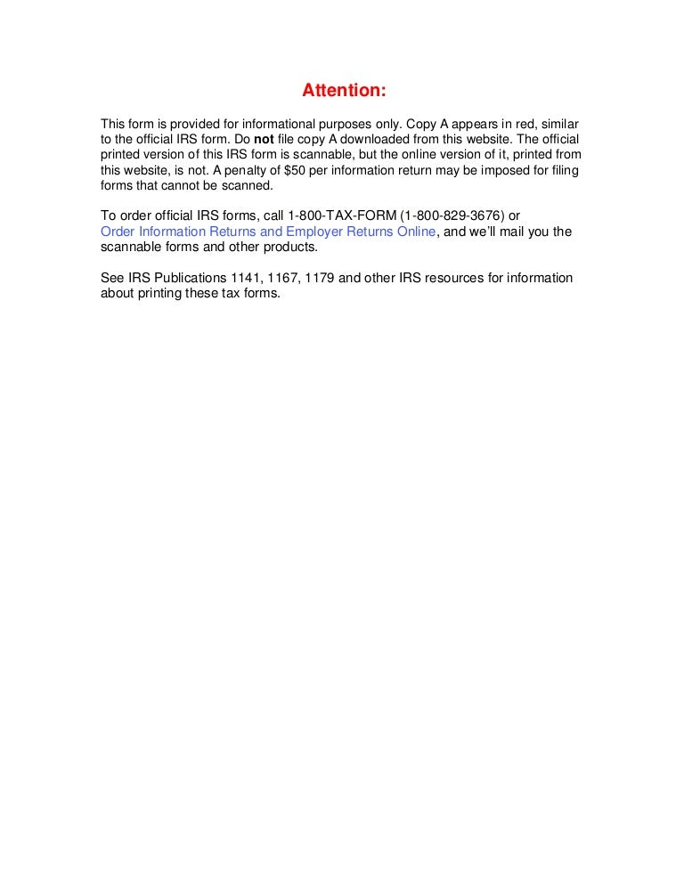 Form 1099 Misc Miscellaneous Income