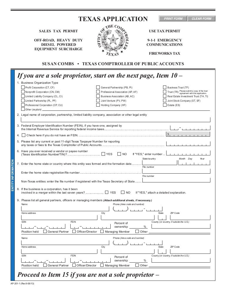 Resale Tax Form Texas Ibovnathandedecker