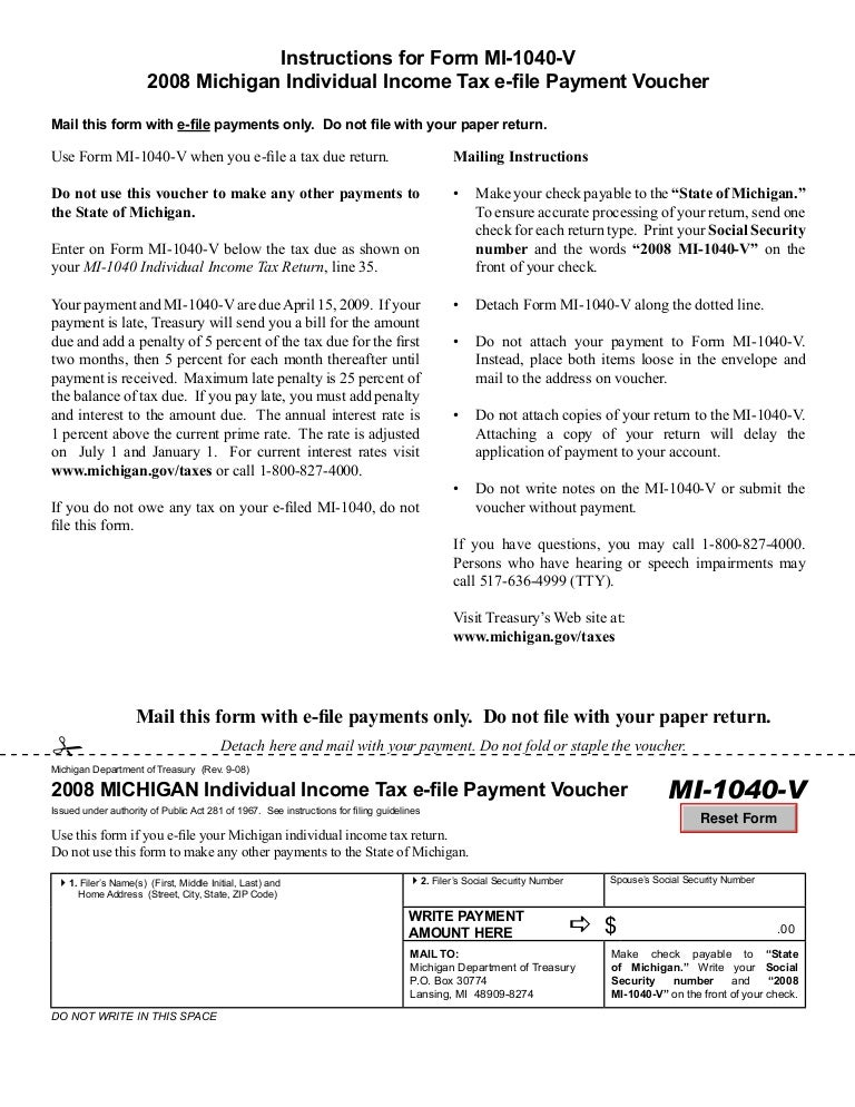 Mi 1040 V2michigan Documents Taxes
