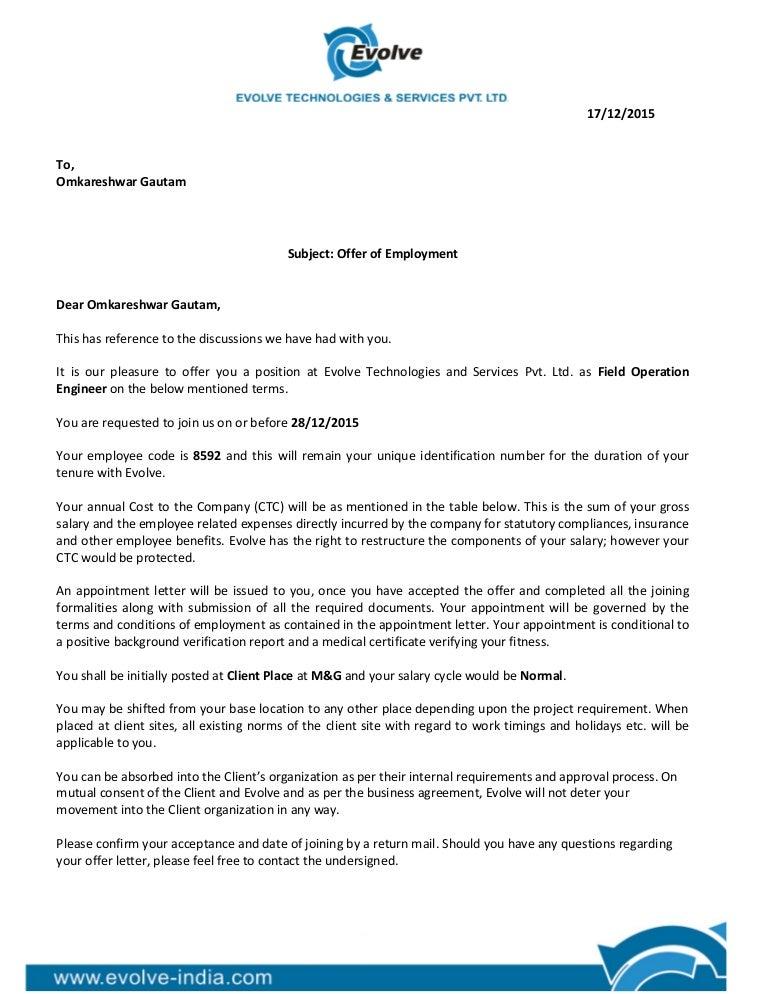 Offer Letter Company Offer Letter Format In Pdf Company Offer