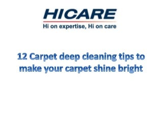 12 carpet deep cleaning tips to make your
