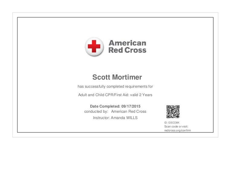 cpr aid instructor certificate lifeguard cross aed certification cert lifeguarding pdf adult pediatric america prochain proxima