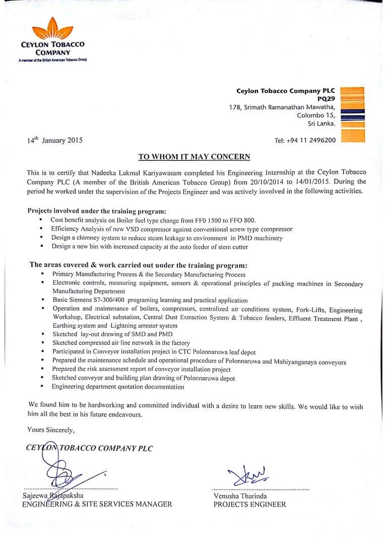 ctc service letter
