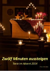 12 Minuten  im Advent 2014 - Texte