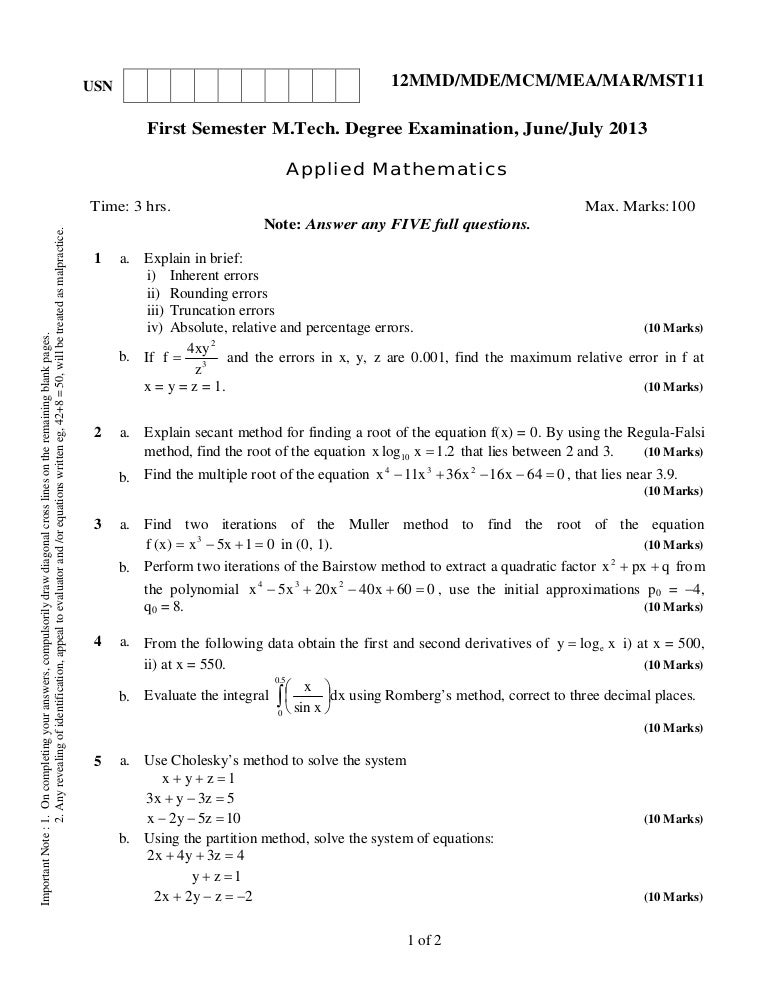 12 mmd11 applied mathematics - june, july 2013
