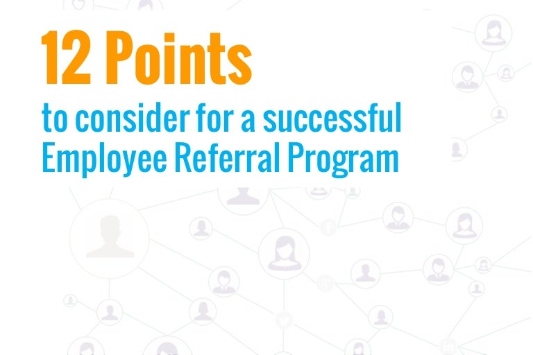12 pointer check list for a successful employee referral program pronofoot35fo Images
