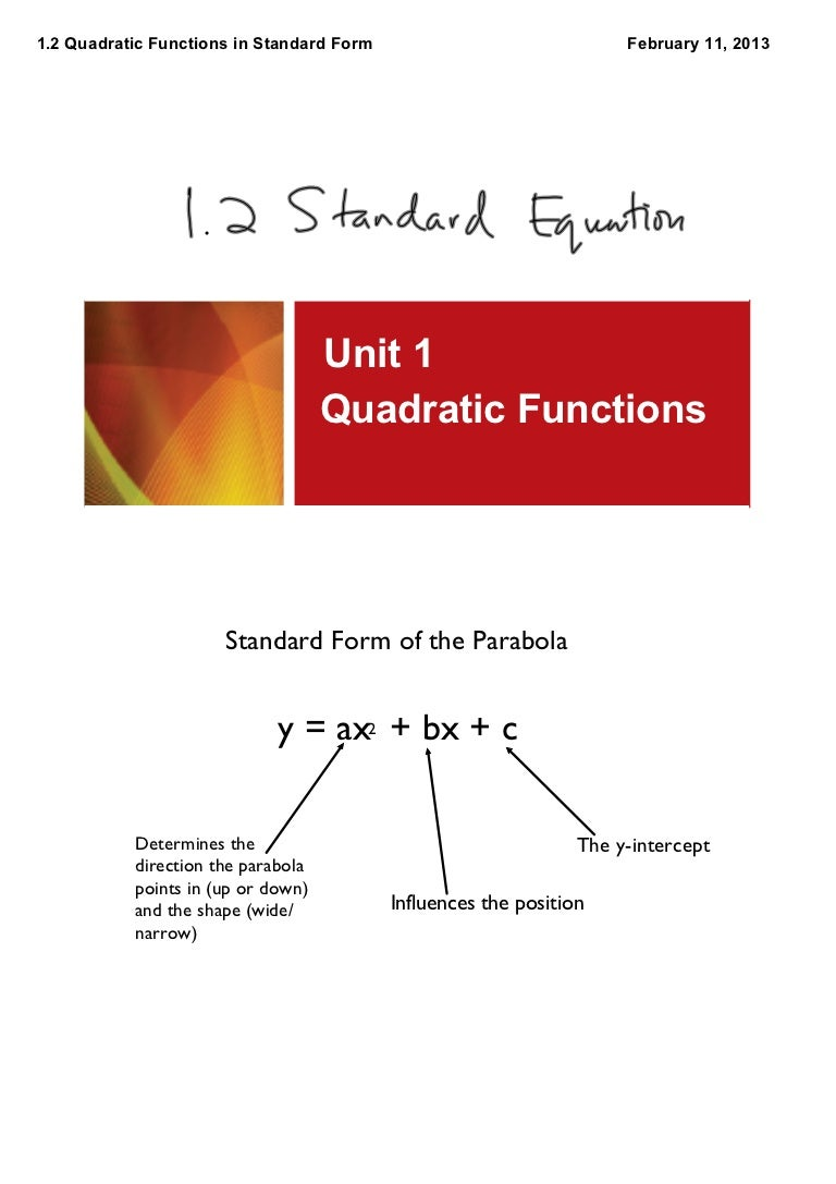 1 2 quadratic functions in standard form falaconquin
