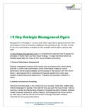12 step Strategic Management Cycle