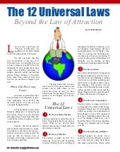 The 12 Universal Laws