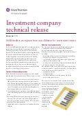 GT - Investment company technical release