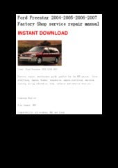 2005 ford freestyle owners manual pdf