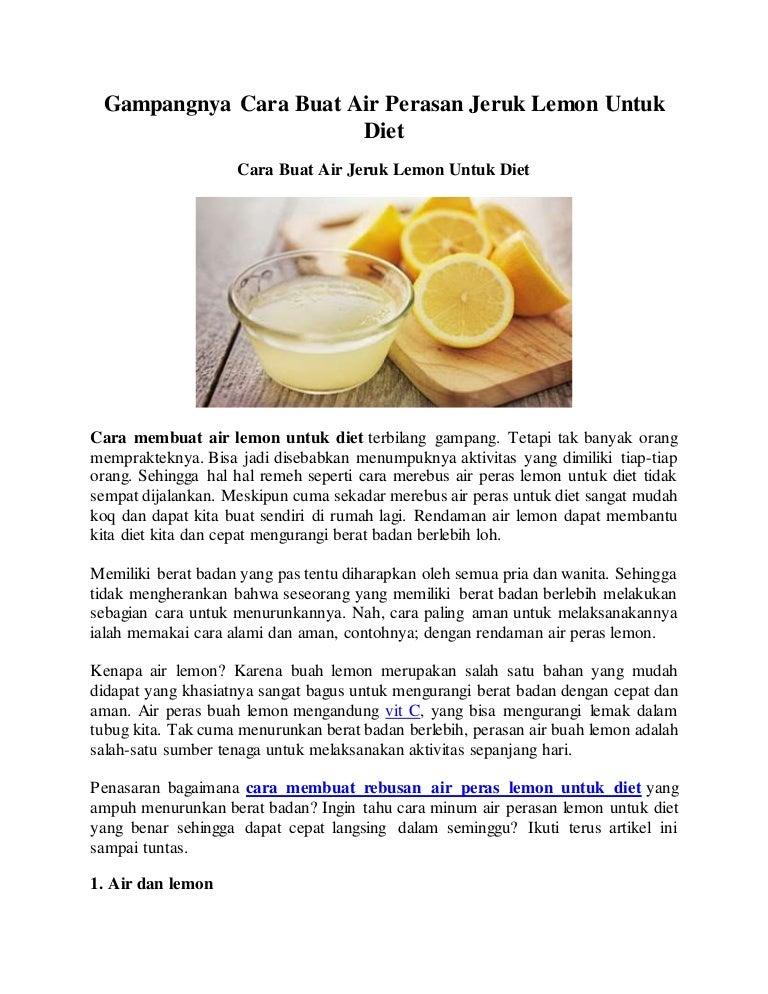 Gampangnya Cara Buat Air Perasan Jeruk Lemon Untuk Diet